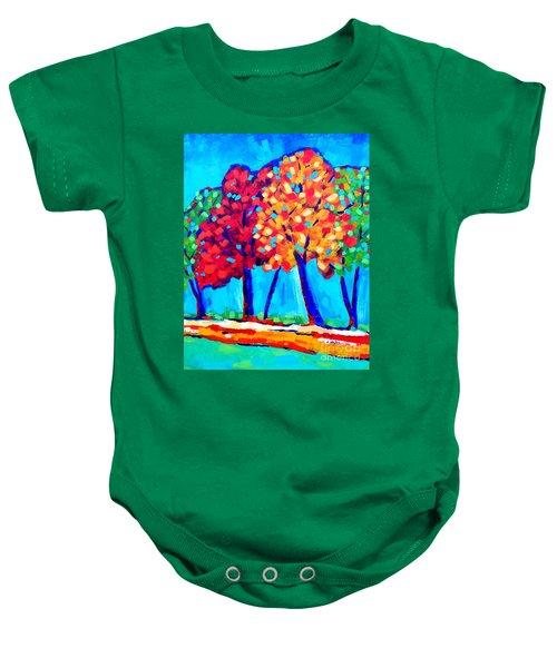 Autumn Trees Baby Onesie