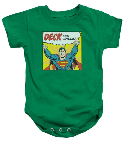 Dc - Deck The Halls Baby Onesie