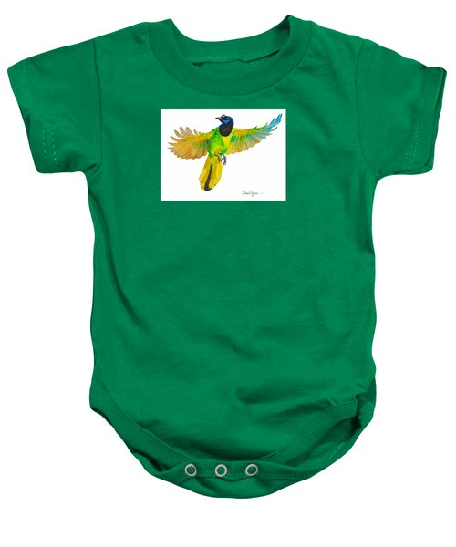 Da175 Green Jay By Daniel Adams Baby Onesie