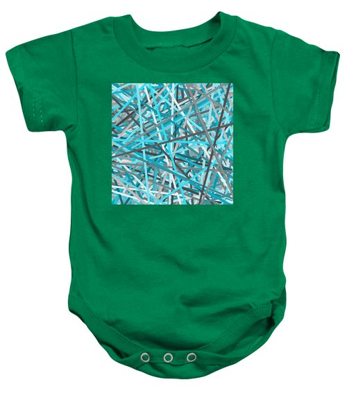 Link - Turquoise And Gray Abstract Baby Onesie