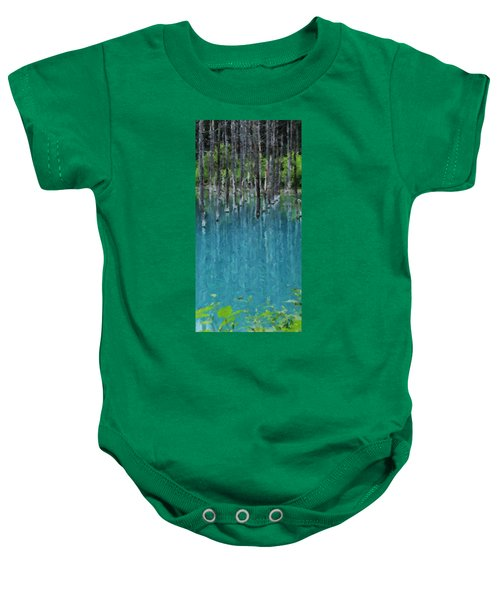 Liquid Forest Baby Onesie