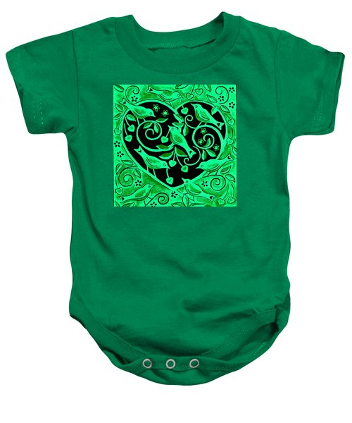 Love Birds, 2012 Woodcut Baby Onesie