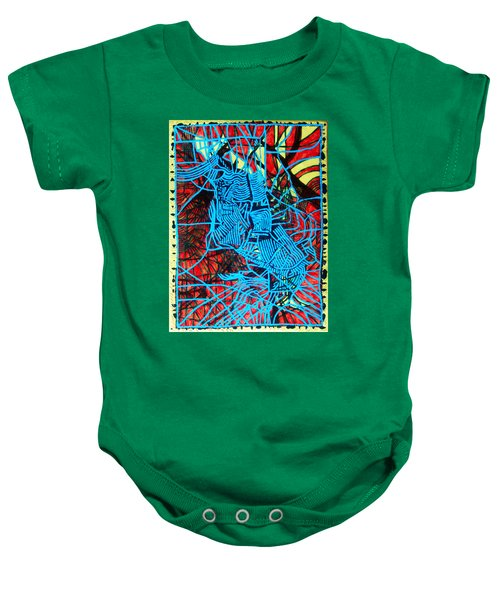 Maiden In Blue - Mary In The Temple Baby Onesie