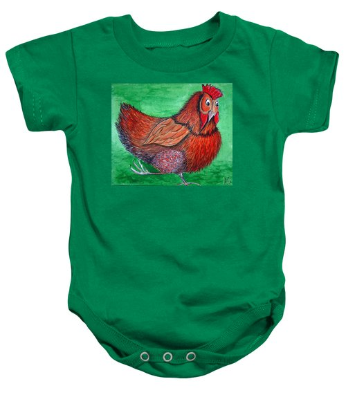 Mrs Chicken Baby Onesie