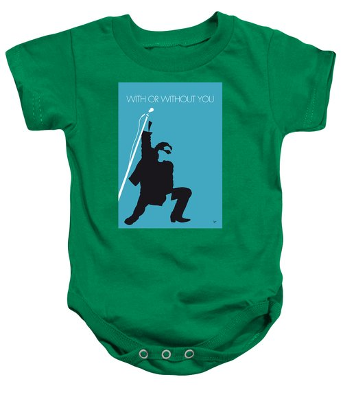 No035 My U2 Minimal Music Poster Baby Onesie by Chungkong Art