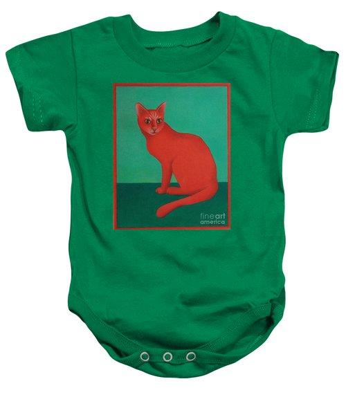 Red Cat Baby Onesie