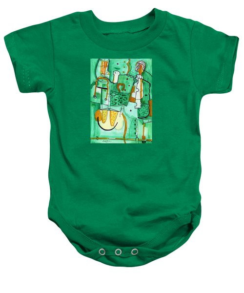 Reflective #8 Baby Onesie