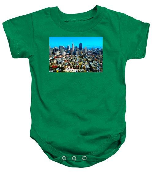 San Fran Colors Baby Onesie