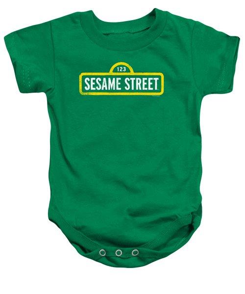 Sesame Street - Rough Logo Baby Onesie