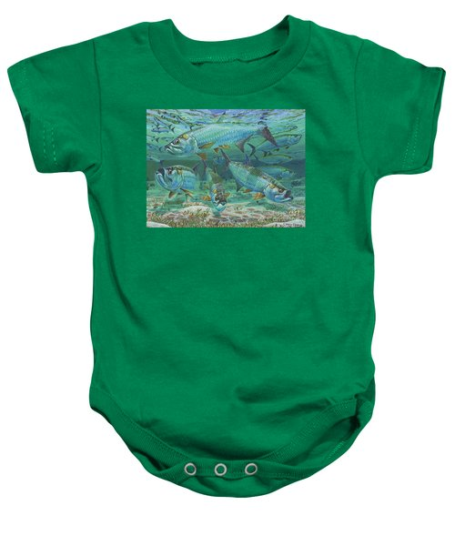 Tarpon Rolling In0025 Baby Onesie by Carey Chen
