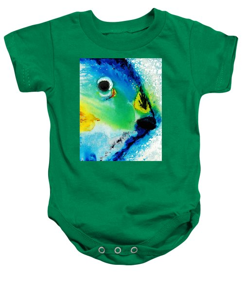 Tropical Fish 2 - Abstract Art By Sharon Cummings Baby Onesie