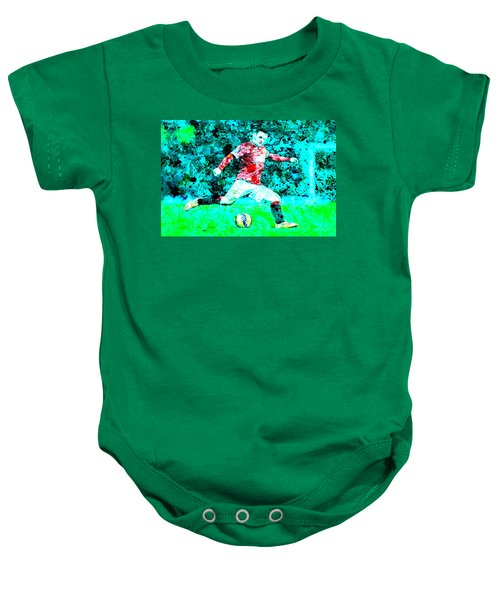 Wayne Rooney Splats Baby Onesie by Brian Reaves