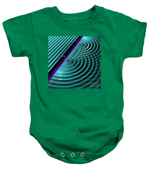 Waves Two Slit 3 Baby Onesie