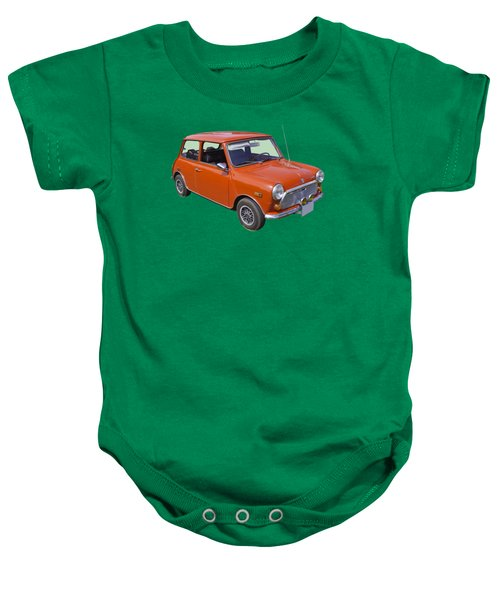 Red Mini Cooper Baby Onesie