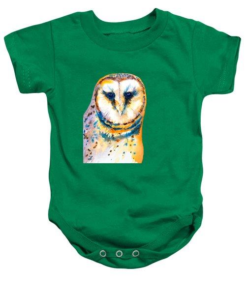 Gorgeous Barn Owl Baby Onesie