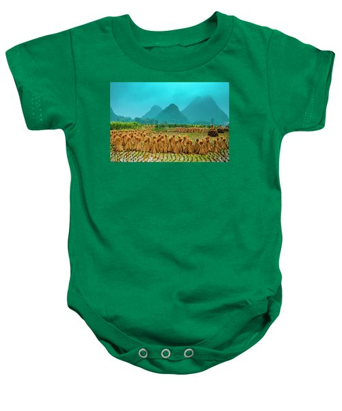 Beautiful Countryside Scenery In Autumn Baby Onesie