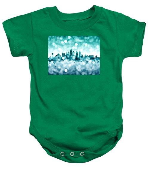 Philadelphia Pennsylvania Skyline Baby Onesie by Michael Tompsett