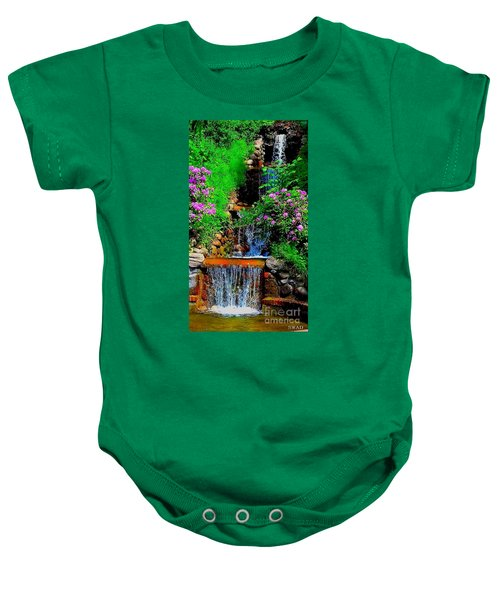 A Small Waterfall In Hbg Sweden Baby Onesie
