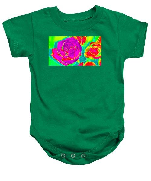 Blooming Roses Abstract Baby Onesie