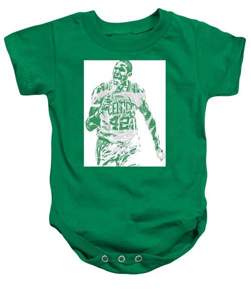Al Horford Boston Celtics Pixel Art 7 Baby Onesie