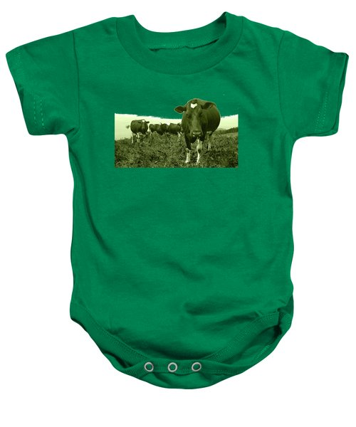Annoyed Cow Baby Onesie