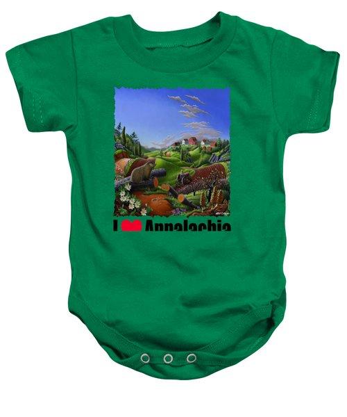 I Love Appalachia - Spring Groundhog Baby Onesie by Walt Curlee