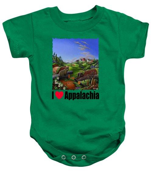 I Love Appalachia - Spring Groundhog Baby Onesie