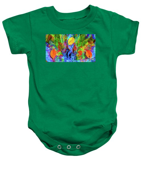 Autumn Leaves Abstract Baby Onesie
