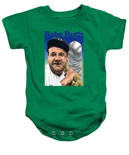 Babe Ruth Shirt Baby Onesie