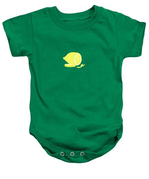 Big Lemon Flavor Baby Onesie by Little Bunny Sunshine