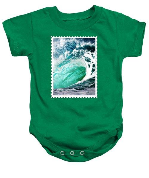 Big Wave Keeps On Rolling  Baby Onesie