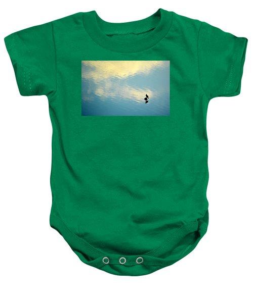 Bird Reflection Baby Onesie