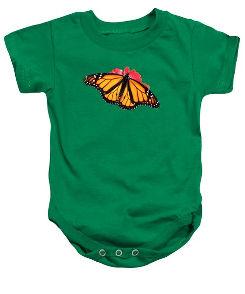 Baby Onesie featuring the mixed media Butterfly Pattern by Christina Rollo