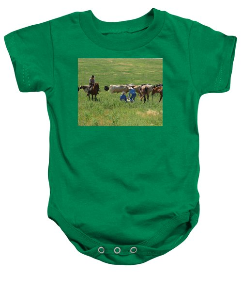 Calf Roping Baby Onesie