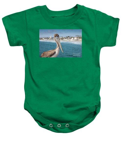 California Pelican Baby Onesie