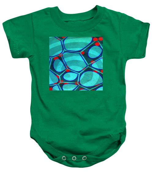 Cell Abstract 6a Baby Onesie by Edward Fielding