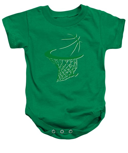 Celtics Basketball Hoop Baby Onesie by Joe Hamilton