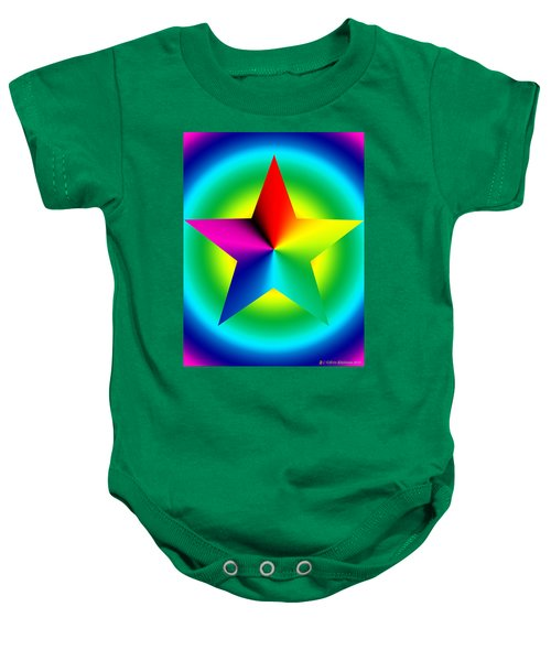 Chromatic Star With Ring Gradient Baby Onesie