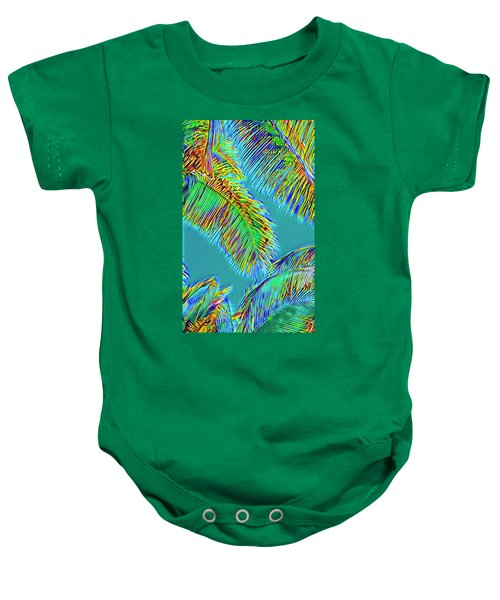 Coconut Palms Psychedelic Baby Onesie