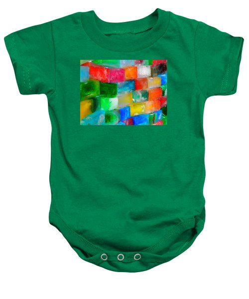 Colored Ice Bricks Baby Onesie