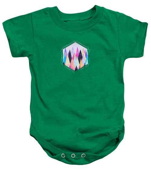 Colorful Abstract Geometric Triangle Peak Woods  Baby Onesie