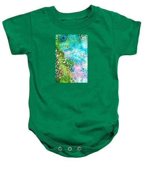 Colorful Art - Enchanting Spring - Sharon Cummings Baby Onesie by Sharon Cummings