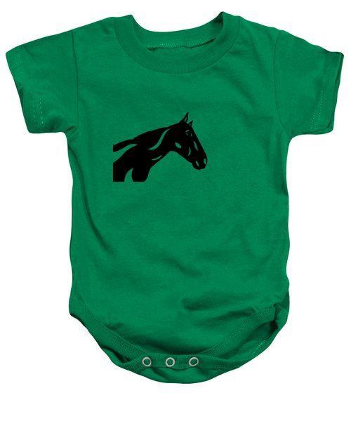 Crimson - Abstract Horse Baby Onesie