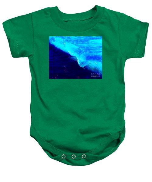 Crystal Blue Wave Painting Baby Onesie