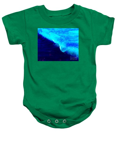 Crystal Blue Wave Painting Baby Onesie