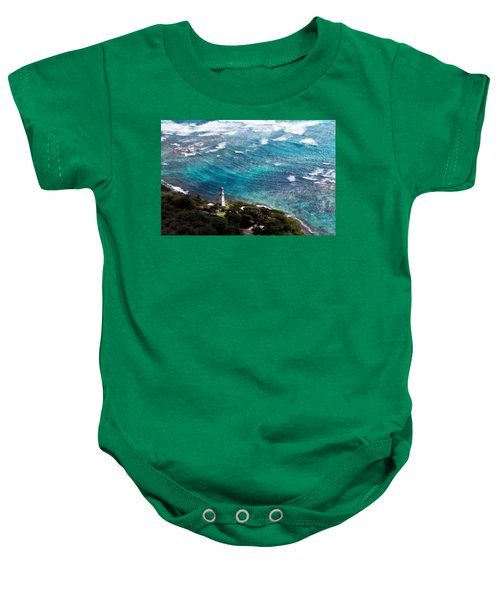 Diamond Head Lighthouse Baby Onesie