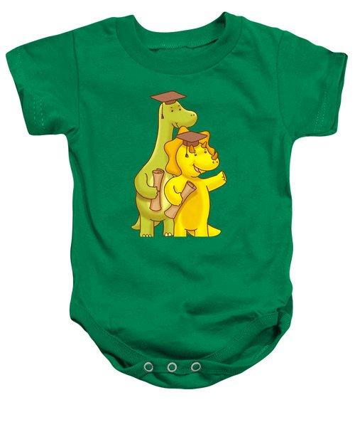 Dinosaur School Graduation Day Baby Onesie
