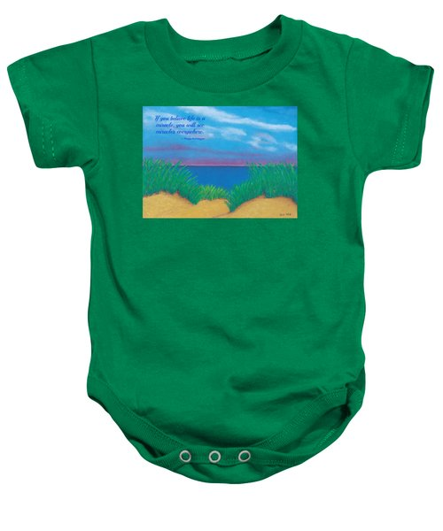 Dunes At Dawn - With Quote Baby Onesie