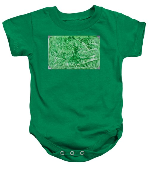 Encaustic Abstract Green Foliage Baby Onesie