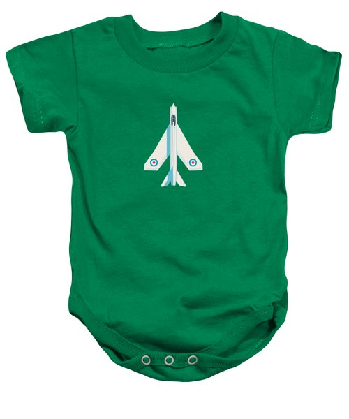 English Electric Lightning Fighter Jet Aircraft - Blue Baby Onesie